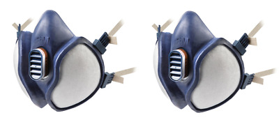 {2 Pack} 3M 4251 Mask Vapour,Dust & Partical Reusable Respirators, EN405:2001