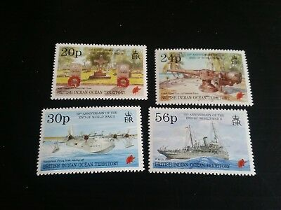 British Indian Ocean Territory 1995 Sg 167-170 50Th Anniv Of End Of Second  Mnh