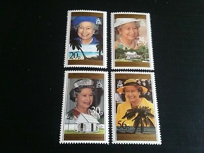 British Indian Ocean Territory 1996 Sg 180-183 70Th Birthday Of Queen Mnh