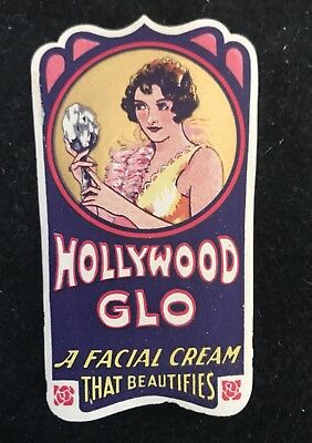 VINTAGE 1920s ART DECO DESIGN BEAUTY CREAM LABELS FLAPPER & HOLLYWOOD GLO LOT/6