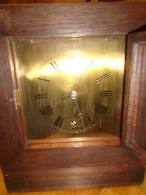 Victorian Brass Faced Mantle Clock