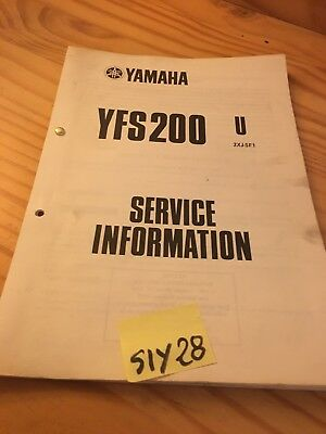 Yamaha YFS200 U 1988 quad Blaster service information technique technical data