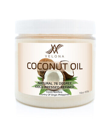 Coconut Oil 76 Degree 16 oz REFINED ORGANIC CARRIER Cold Pressed 100% PURE