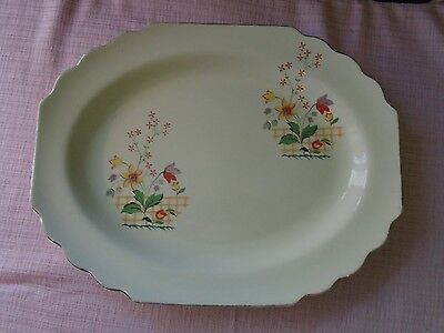 W. S. George Lido Canarytone Gaylea Platter 13 1/4 inch Vintage