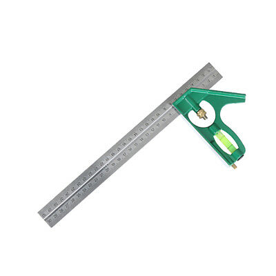 12-Inch Combination Square Ruler Measuring Ruler Angle Protractor -Green