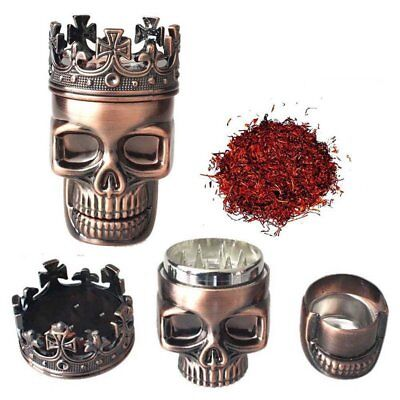 Tobacco Herb Grinder Spice Herbal Alloy Smoke Crusher Metal Skull Chromiu