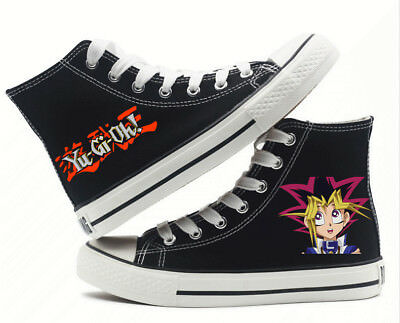 Yu Gi Oh Yugi Muto Millenium Puzzle High top Canvas Flat Unisex Causal Shoes