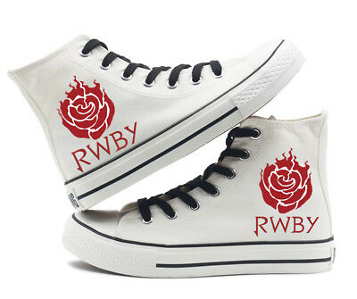 RWBY Ruby Rose Weiss Schnee High top Canvas Flat Unisex Boys Girls Causal Shoes