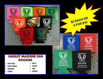 Haisley Machine Can Koozie Lot Of 6 Truck Pulling