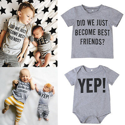 Family Matching Tops Kids Baby Boy Big/Little Brother Romper T-shirt Tee Summer