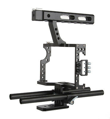 Durable Black Camera Cage Stabilizer fits for Camera / Smart Phone lot BG1