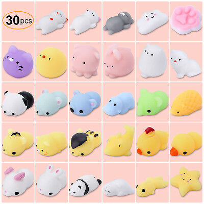 Mochi Soft Animal Squeeze Stretch Compress Squishy Decompression Toy Collection