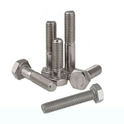 "304 Stainless Steel New BSW Hex Tap Bolts Hexagonal Screws 3/16"" 1/4"" 5/16"" 3/8"""