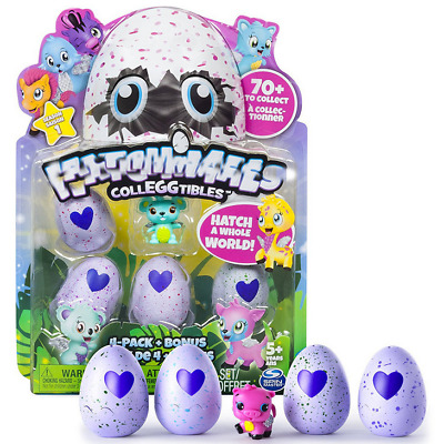 Hatchimals Hatching Egg 4 packs Bonus Hatchimals Colleggtibles Toy Xmas Gift Neu