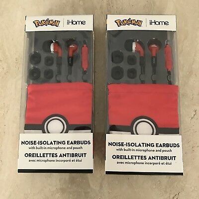 Pokemon IHome Noise-Isolating Earbuds (Lot of 2) New In Package