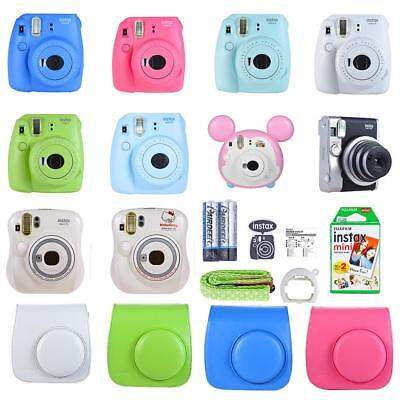 Fujifilm Instax Mini 9 Instant Film Camera All Colors with Case & 20 Film Sheet