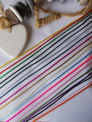 5 mtrs x Jewellery Cord,2mm Thick Nylon Braided String Necklace,Bracelet Making