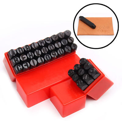 36PCS 3mm Stamps Punch Set Case Steel Die Tool Letters Alphabet And Number