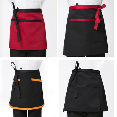 Half Length Short Apron Women / Men Kitchen Cooking Waitress Waist Aprons