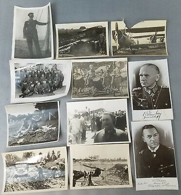 Lot of 10 Original German WWII Photos HJ Soldiers Planes Vehicles Heer