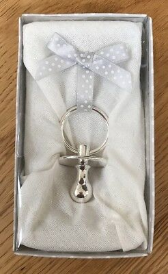 Silver Plated Dummy Keepsake In Presentation Box Free Postage