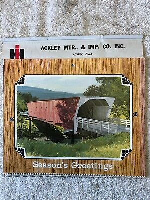 1976 I.H. Implement Calendar - Ackley IA Mtr. and Imp. Co. Covered Bridges