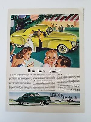 1941 Lincoln Zephyr V12 green yellow chartreuse car ad