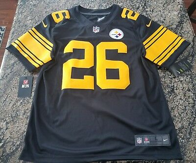 NFL PITTSBURGH STEELERS COLOR RUSH STITCHED JERSEY 819066-011 Le Veon Bell  ... e29002d8d