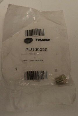 Trane Central Air Conditioning Plug, Hex Head, 12 Nps, P/N Plu00020