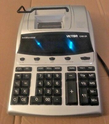 Victor AntiMicrobial 1240-3A Commercial Grade Business Calculator Tested Good