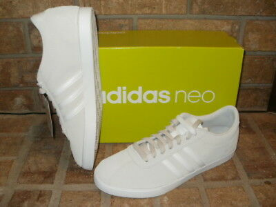 860d5e080b364d NEW ADIDAS NEO Courtset Womens Suede Tennis Shoes White-Gray ...