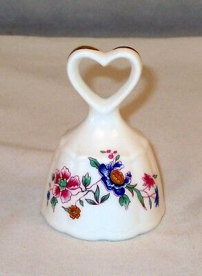 Antique Hammersley Fine Bone China Floral Bell w/ Heart Handle England