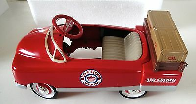 New In Box BMC Toys 1996 LE 1/6 Scale, Red Crown Gasoline Pedal Car Bank