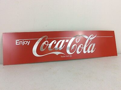 "Coca Cola Aluminum Metal Sign w/ Adhesive Back Mancave Decor 18.5"" x 4.5"""
