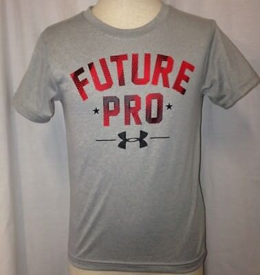 3f773bd39 UNDER ARMOUR BOYS Future Pro Graphic-Print T-Shirt Gray Size Youth ...