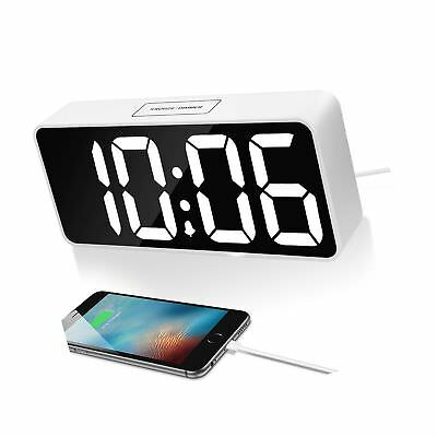 """9"""" Large LED Digital Alarm Clock with USB Port for Phone Charger, Touch-Activ..."""