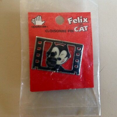 Vintage 1989 Felix the Cat Enamel Movie Lapel Pin Movie Brand New by Applause