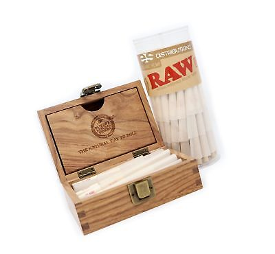 RAW Organic 1 1/4 Pre-Rolled Cones with Filter Tips - Bundle (75 Pack with RA...