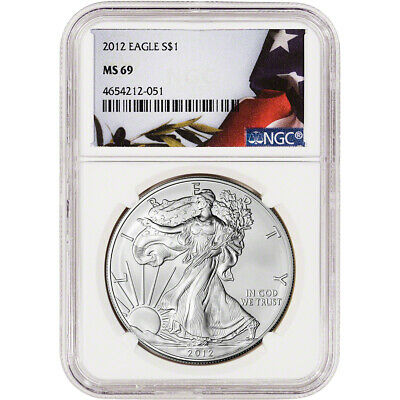 2012 American Silver Eagle - NGC MS69 - Flag Label
