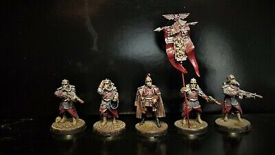 Death Korps of Krieg Command HQ Squad painted Warhammer 40k