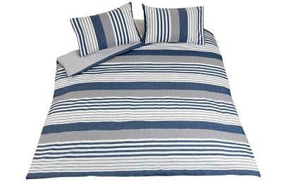 Heart House Lincoln Yarn Striped Bedding Set Double Bed Duvet Cover Pillowcase