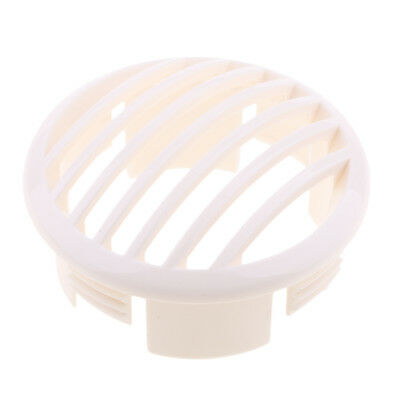 Marine Louvered Vents Round 3-1/2 Inch Hose Hull Air Vent Boat Plastic White