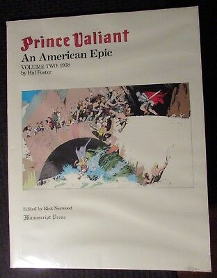 1984 PRINCE VALIANT An American Epic 2 SC FVF 17x22 Hal Foster Manuscript Press