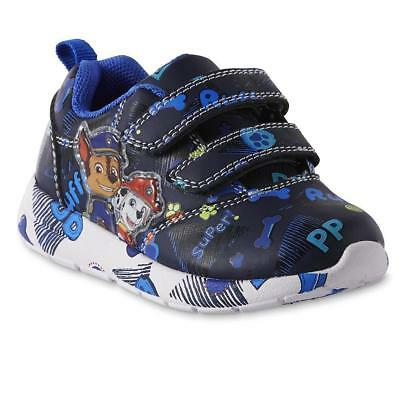 NEW Boys Toddler Light Up Paw Patrol Sneakers Shoes Size 8 9 10 Chase