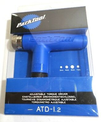 Park Tool ATD-1.2 Adjustable 4 4.5 5 5.5 6Nm Bike Torque Wrench 3 4 5mm Hex T25