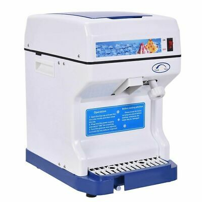 Electric Ice Shaver Machine Ice Crusher Snow Cone Maker, 264lbs 250W