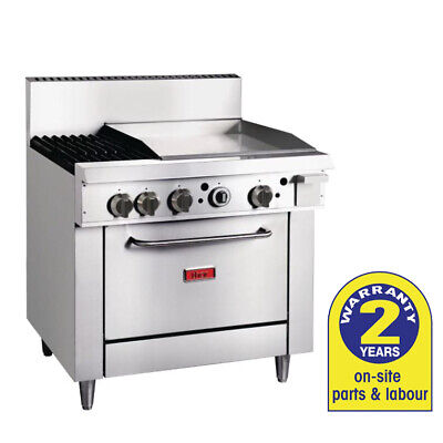 Natural Gas Oven with 600mm Griddle & 2 Burners Grill Hotplate Thor Commercial