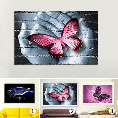 3D Butterfly Diamond Embroidery Painting Cross Stitch Kit DIY Home Room Decor