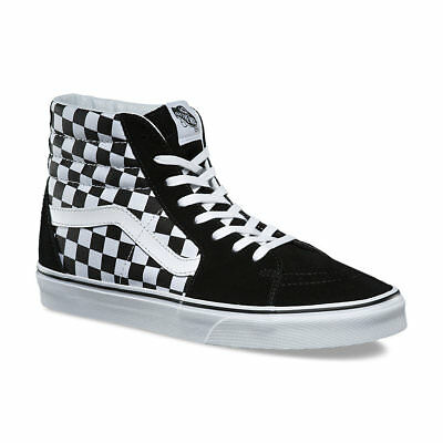 be23f4d8d6 Vans CHECKERBOARD SK8-Hi Mens Shoes (NEW) Black White CHECKERS Hi Tops FREE