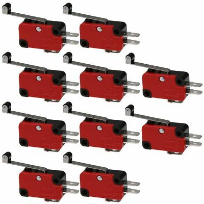 10pc V-156-1C25 Micro Limit Switch Long Hinge Roller Momentary SPDT Snap Action